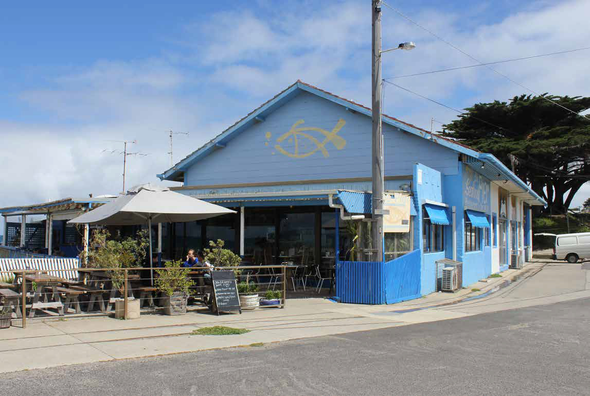 Existing restaurant / fishing co-op building within the precinct